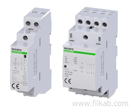 Filkab products electrical equipment noark electrical installation contactors with modular design a combination of the benefits of an installation relay and a robust contactor these relays are intended ccuart Images
